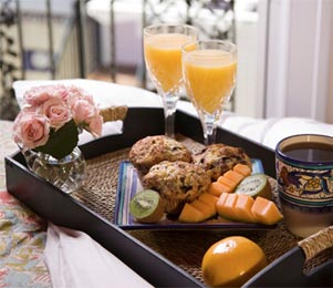 Melbourne Beach FL Bed and Breakfast Muffins, Orange Juice Flowers