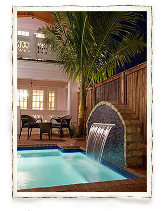 Melbourne Beach Florida Hotel Pool and Waterfall