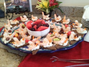 appetizers at our Melbourne beach bed and breakfast