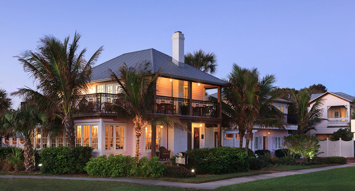 The exterior view of our Beachfront Florida B&B