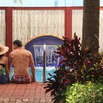 The pool at Port d'Hiver B&B