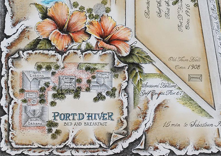 Illustrated map of Port d'Hiver