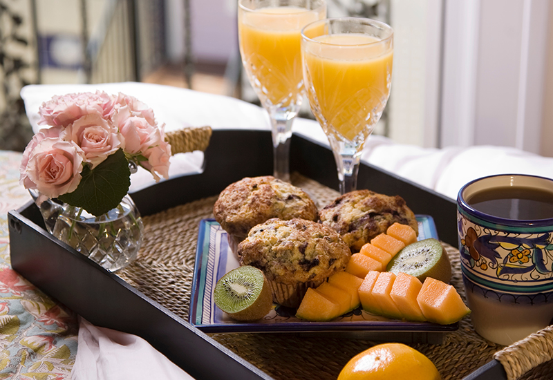 breakfast in bed at Port d'Hiver