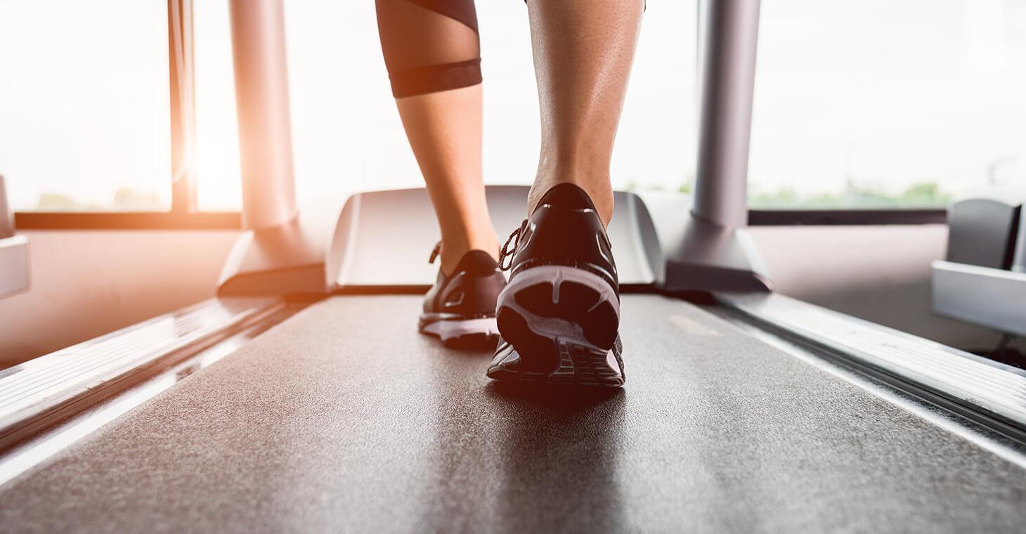 Melbourne Beach FL hotel: Guest using new treadmill