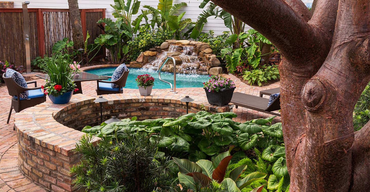 Outdoor Gardens and Pool