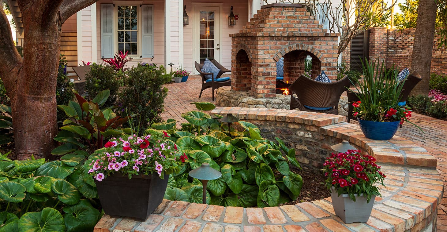 Outdoor Fire Pit and Gardens