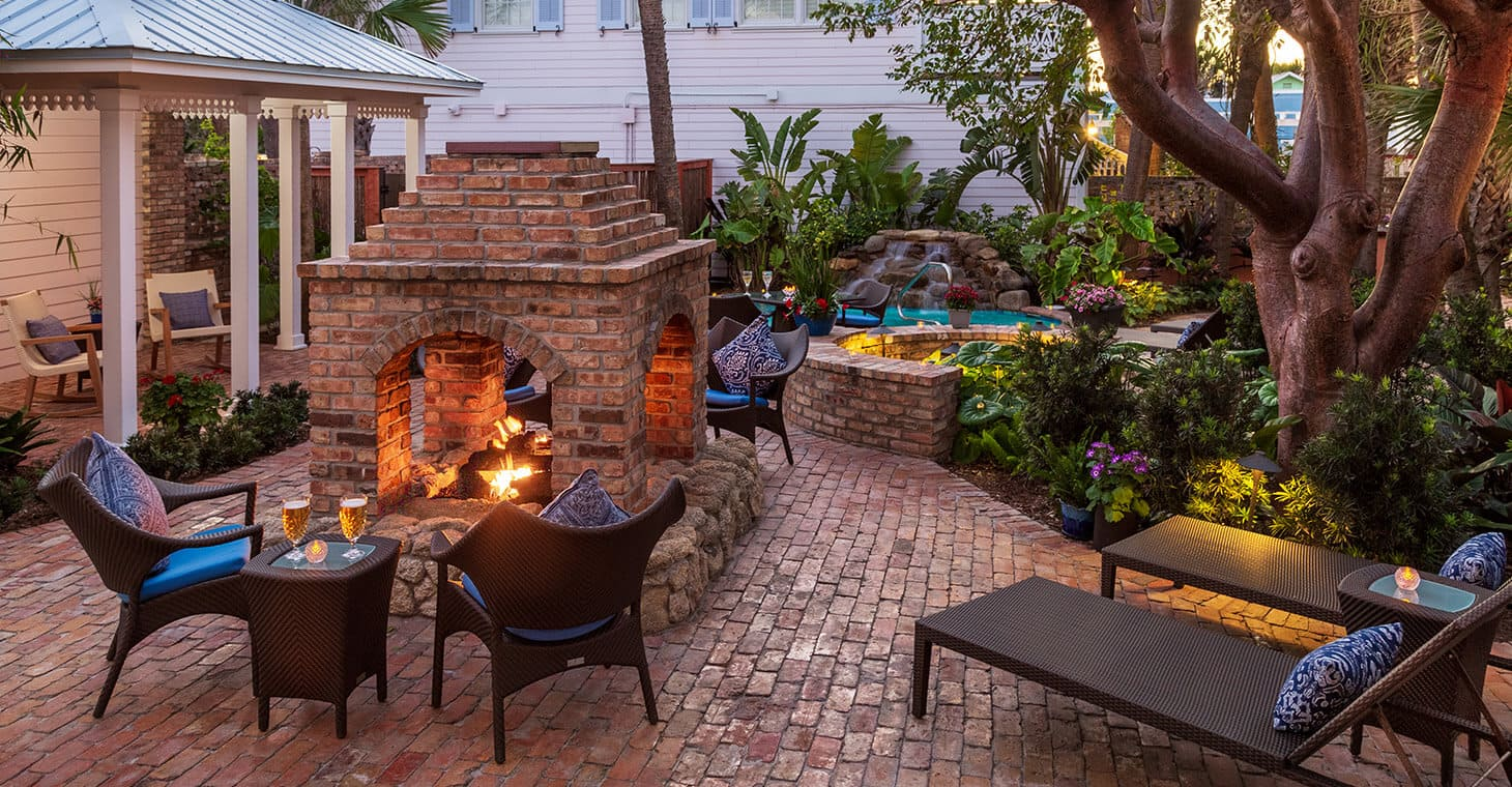Fire pit at our boutique hotel in Florida