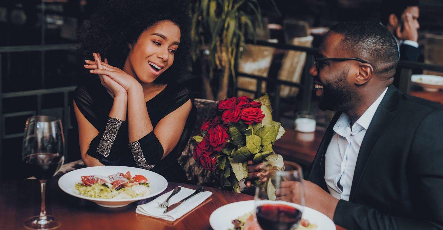 Couple enjoying a romantic dinner in Florida
