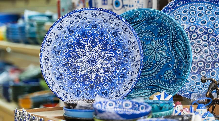 Handmade crafts at an art festival